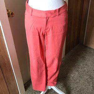 NWOT Old Navy Pixie Coral Ankle Pants Size 8